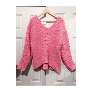 H&M Pink Cable Knit Sweater